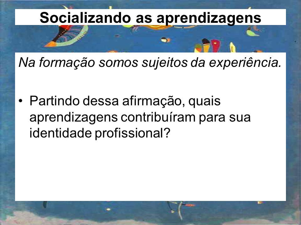 Socializando as aprendizagens