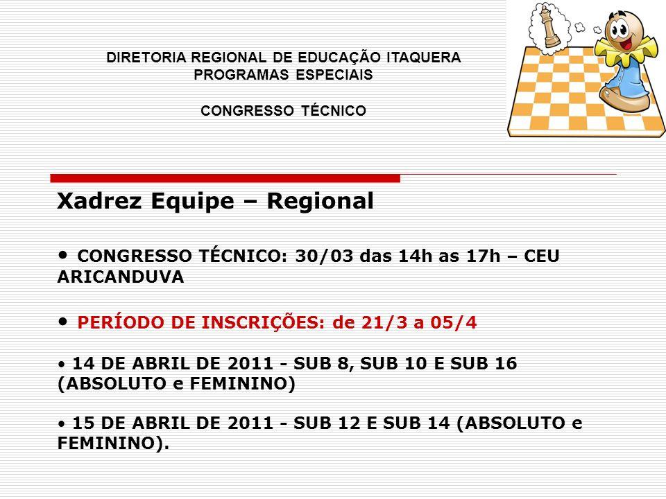 Xadrez Equipe – Regional