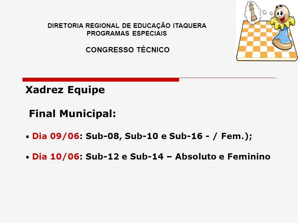 Xadrez Equipe Final Municipal: