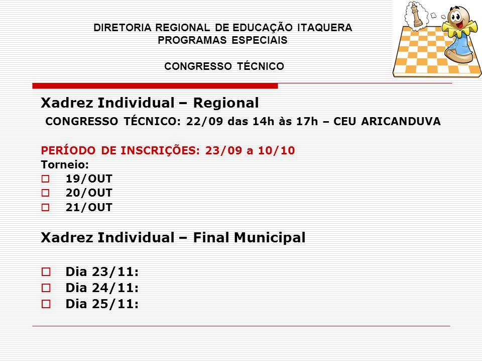 Xadrez Individual – Regional