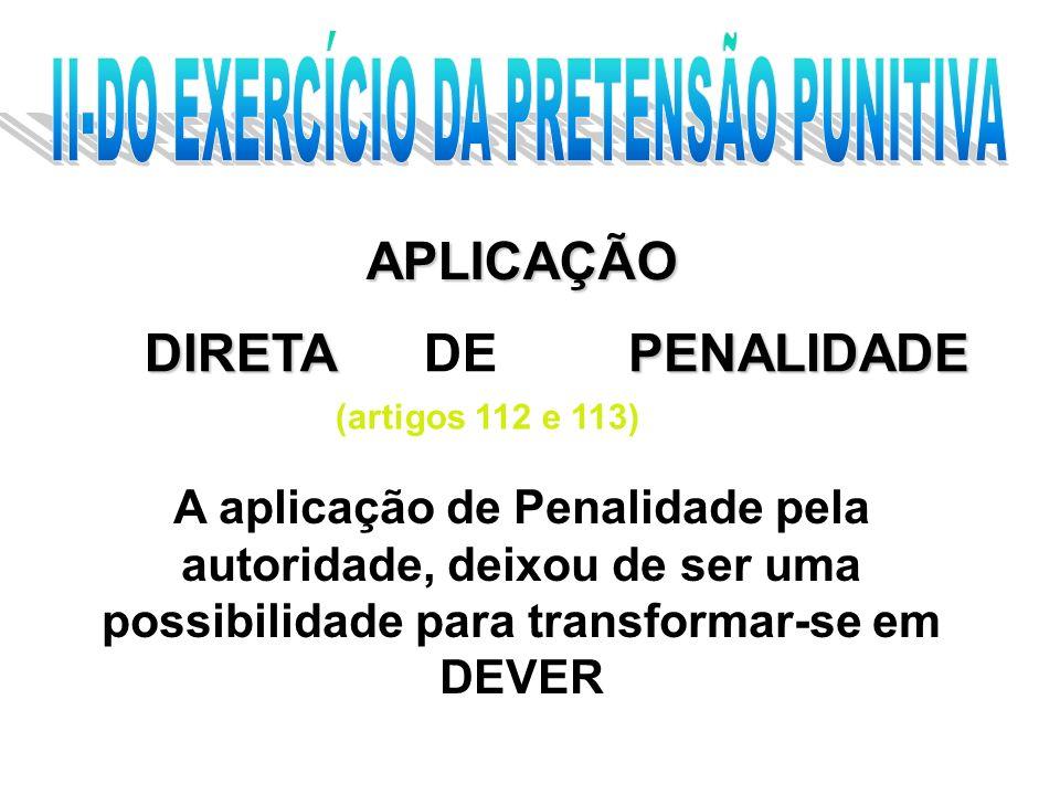 II-DO EXERCÍCIO DA PRETENSÃO PUNITIVA
