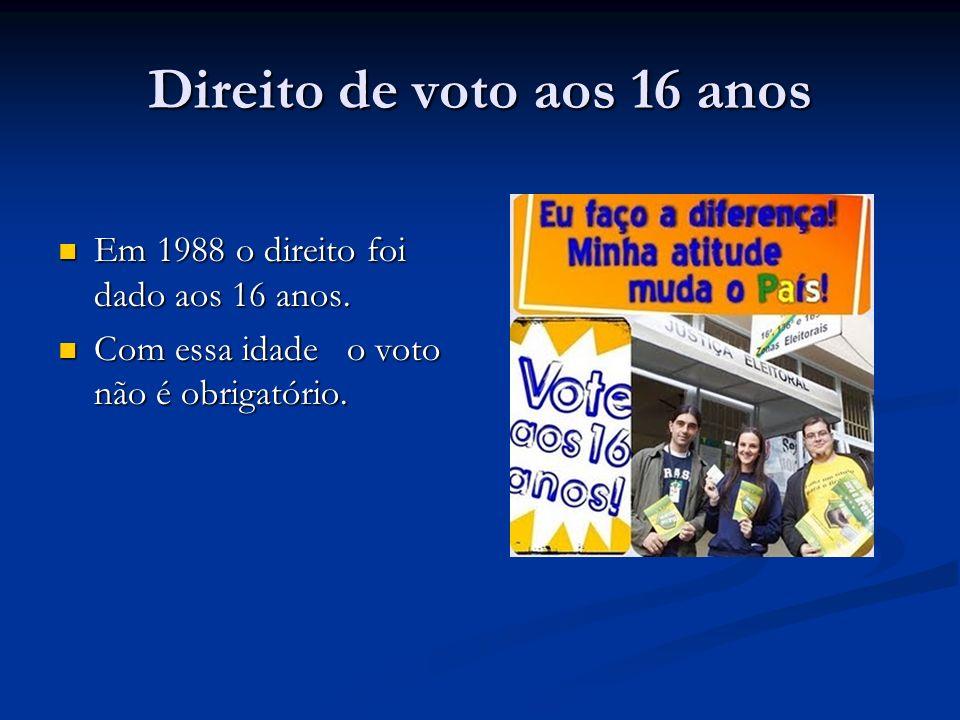 Direito de voto aos 16 anos