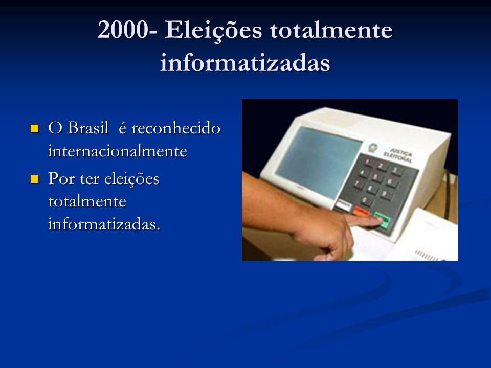 2000- Eleições totalmente informatizadas