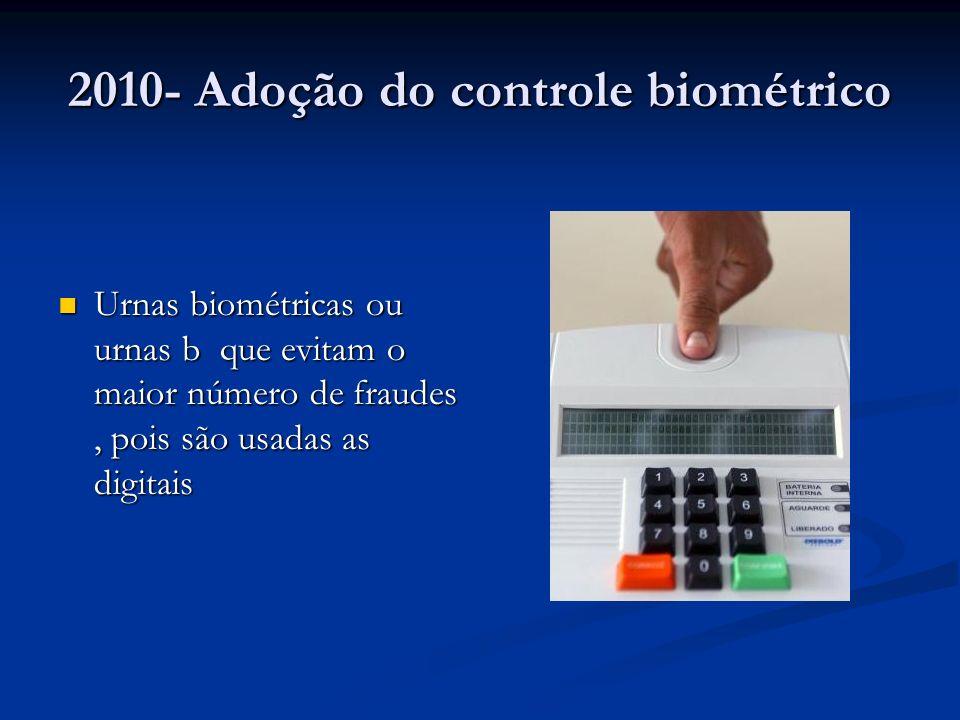 2010- Adoção do controle biométrico