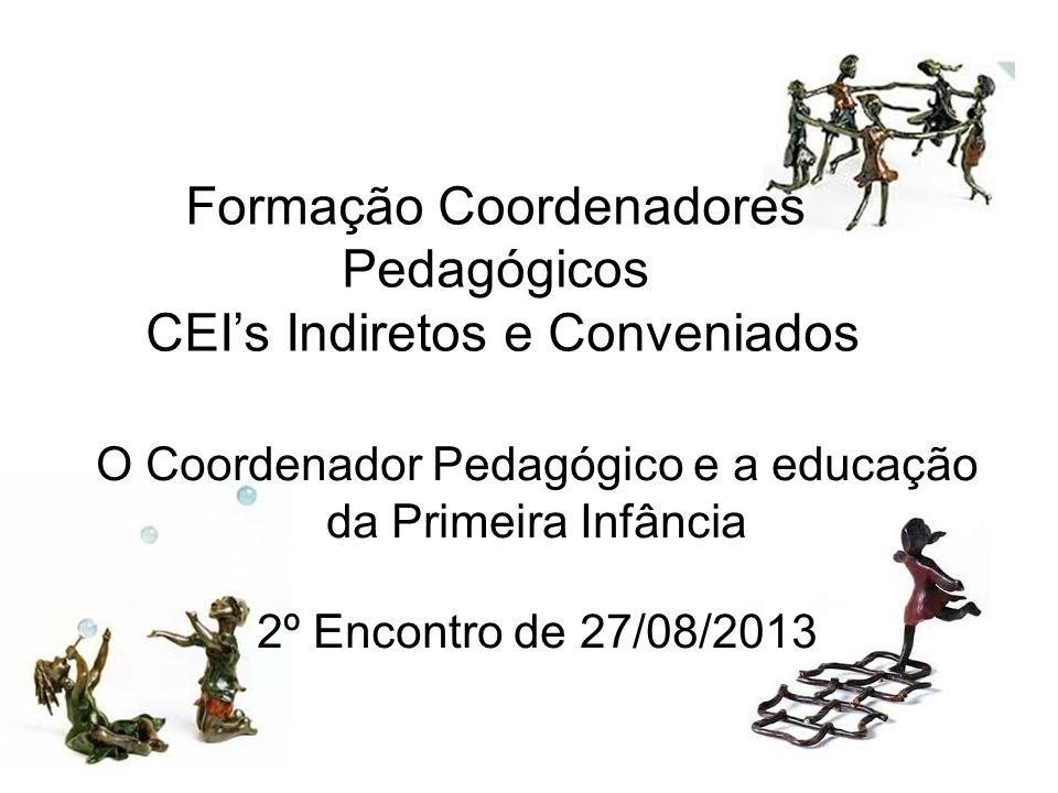 Formação Coordenadores Pedagógicos CEI's Indiretos e Conveniados