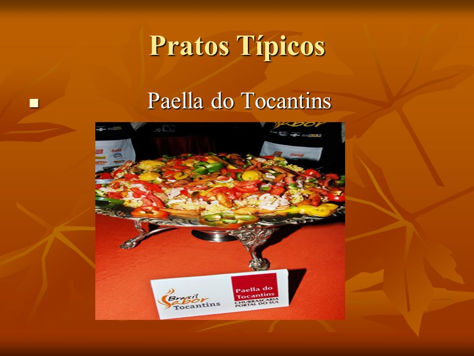 Pratos Típicos Paella do Tocantins