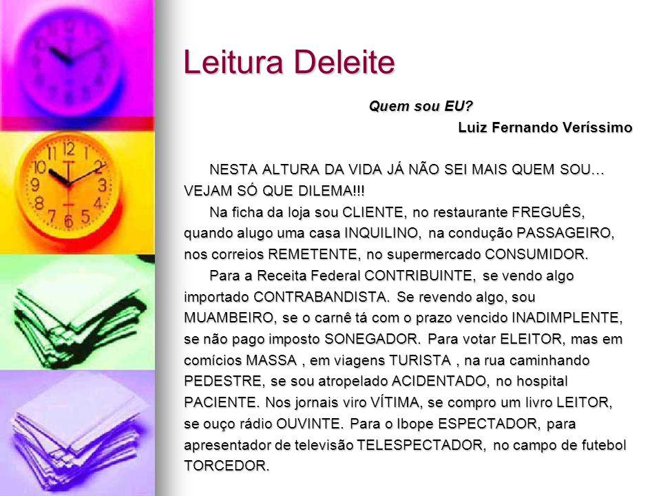 Leitura Deleite Quem sou EU Luiz Fernando Veríssimo
