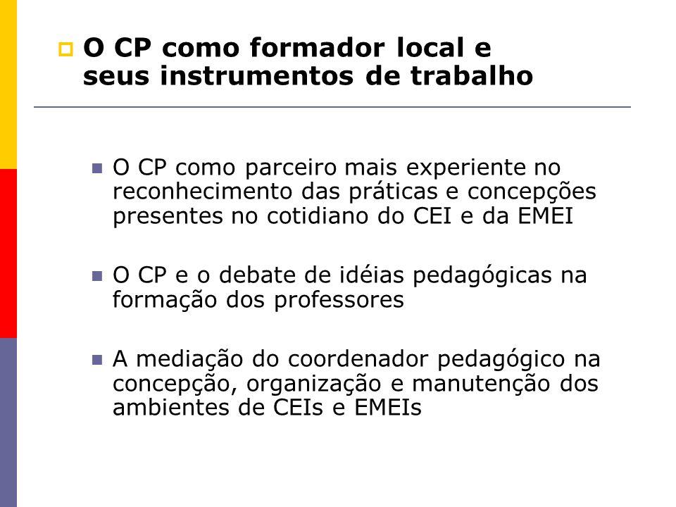 O CP como formador local e seus instrumentos de trabalho