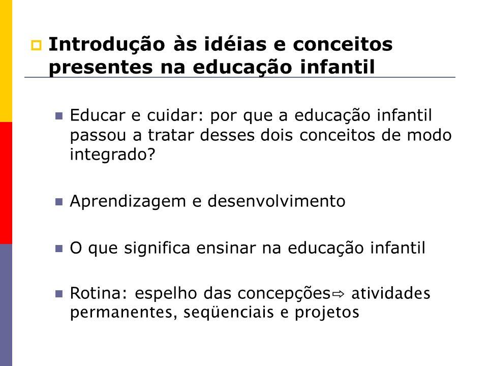 Introdução às idéias e conceitos presentes na educação infantil