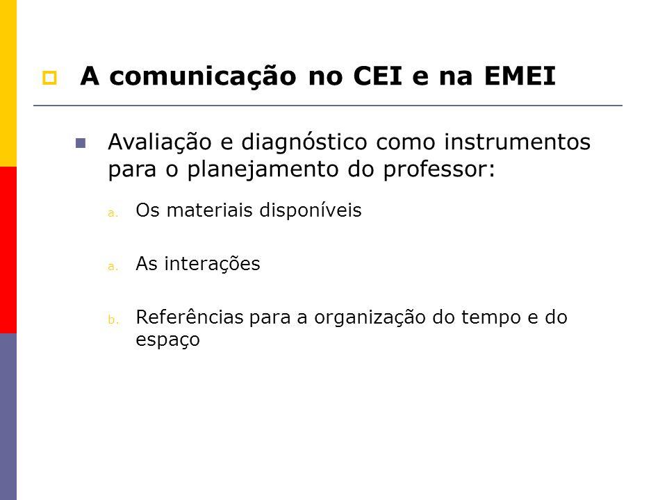 A comunicação no CEI e na EMEI