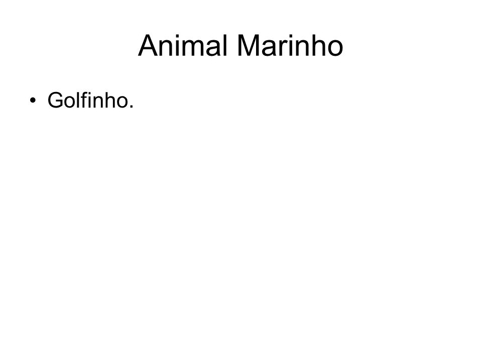 Animal Marinho Golfinho.
