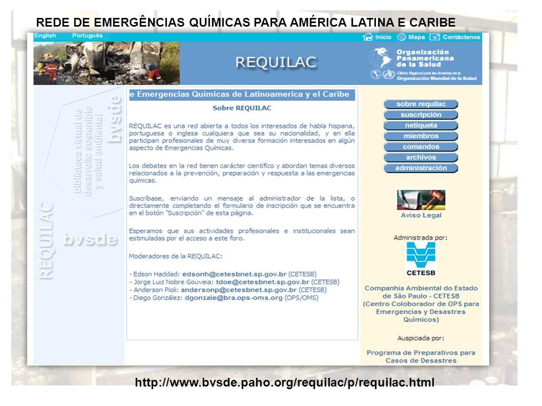 REDE DE EMERGÊNCIAS QUÍMICAS PARA AMÉRICA LATINA E CARIBE