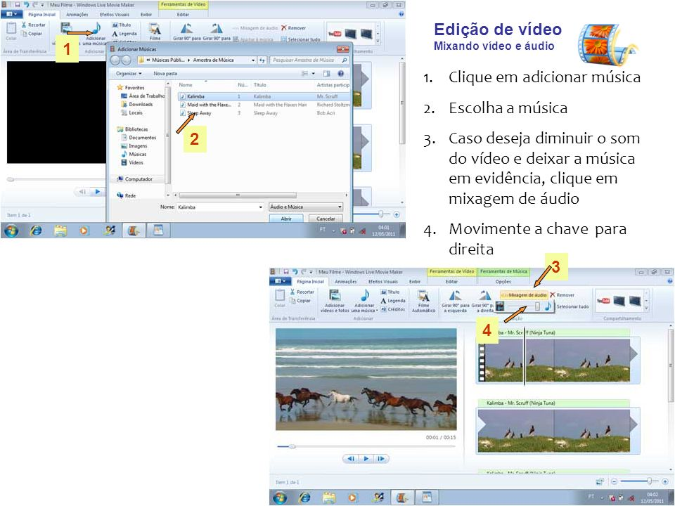 Tutorial Movie Maker Live - ppt carregar