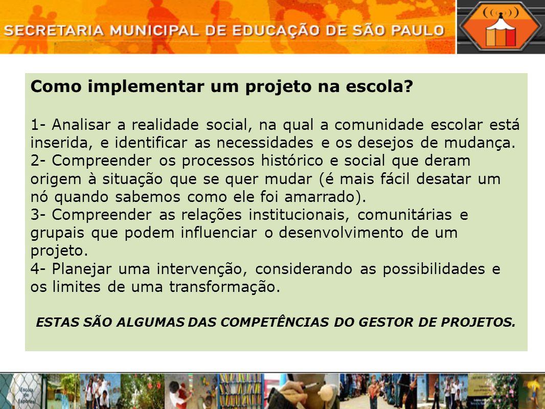 ESTAS SÃO ALGUMAS DAS COMPETÊNCIAS DO GESTOR DE PROJETOS.
