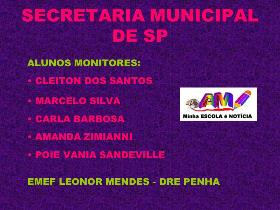 SECRETARIA MUNICIPAL DE SP