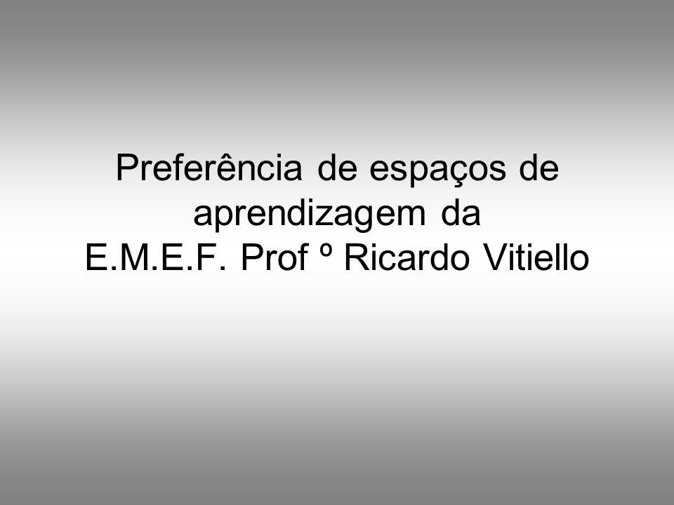 Preferência de espaços de aprendizagem da E. M. E. F