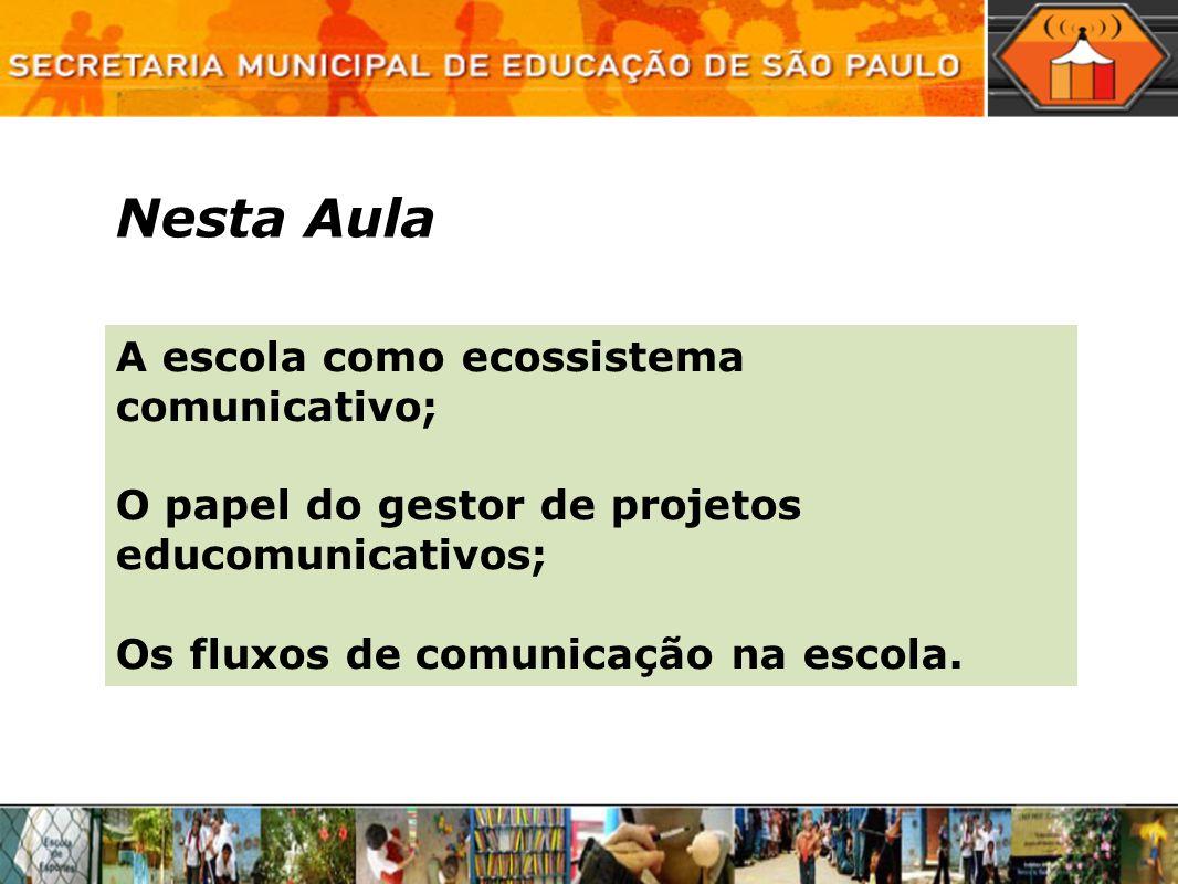 Nesta Aula A escola como ecossistema comunicativo;