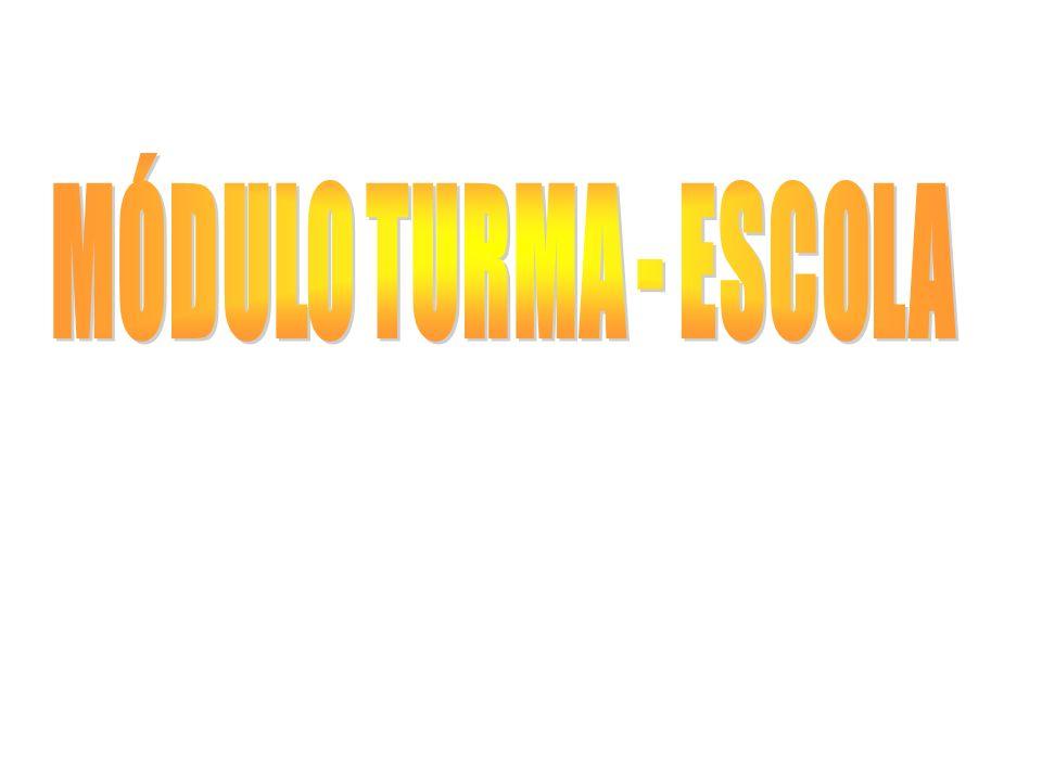 MÓDULO TURMA - ESCOLA