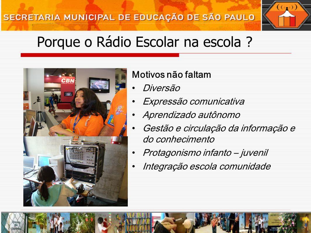 Porque o Rádio Escolar na escola