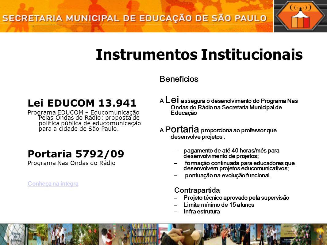 Instrumentos Institucionais