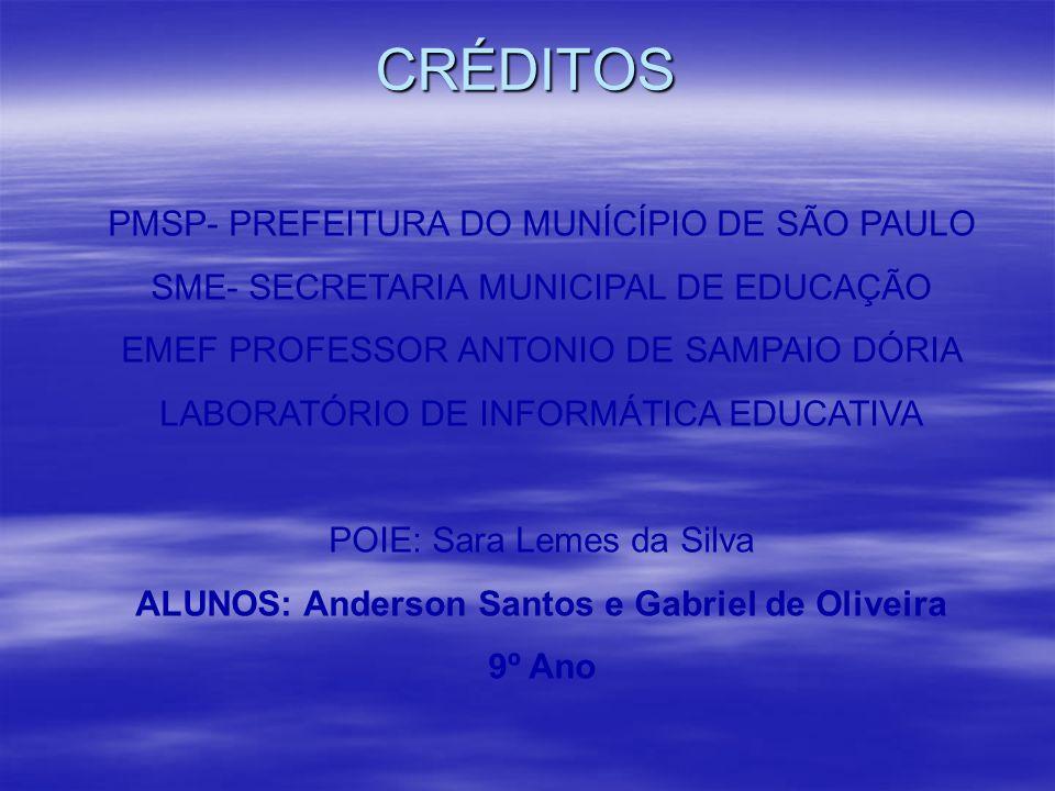 ALUNOS: Anderson Santos e Gabriel de Oliveira