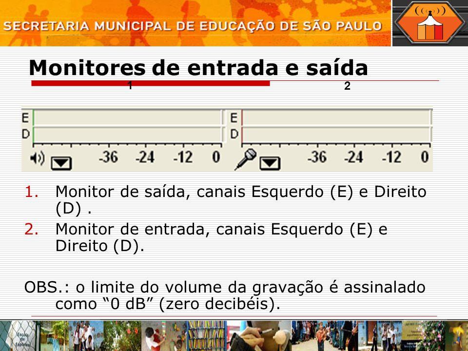 Monitores de entrada e saída