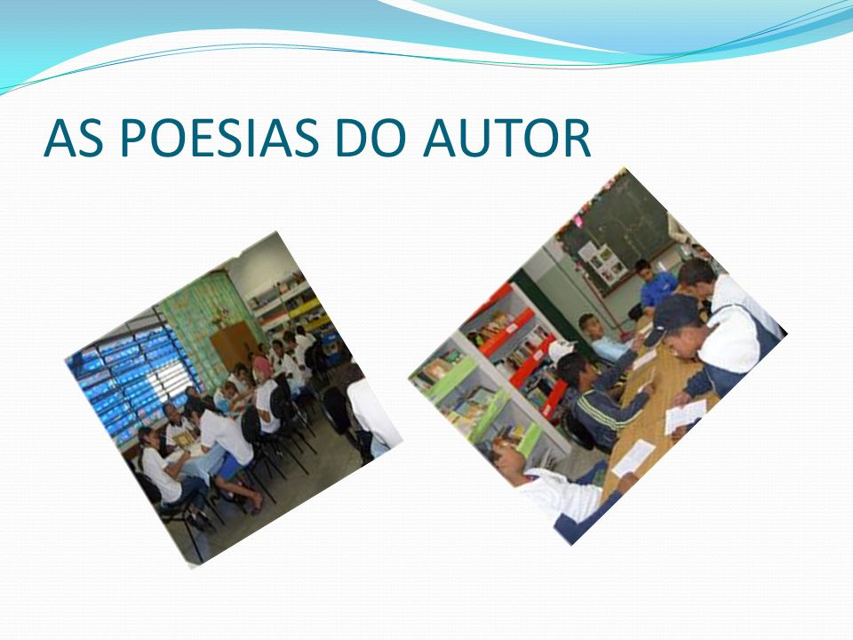 AS POESIAS DO AUTOR