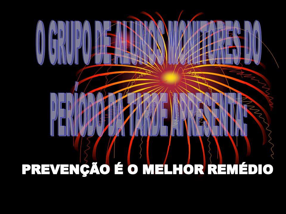 O GRUPO DE ALUNOS MONITORES DO PERÍODO DA TARDE APRESENTA: