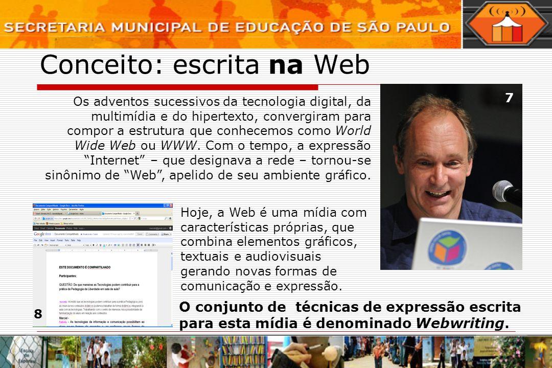 Conceito: escrita na Web