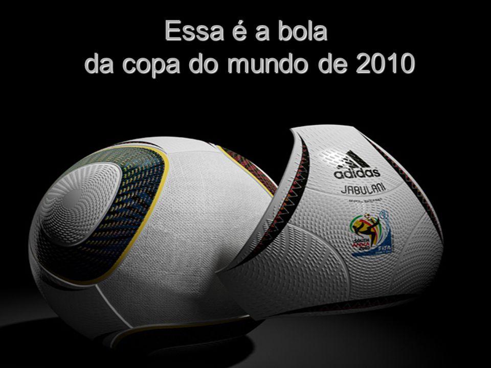 Essa é a bola da copa do mundo de 2010