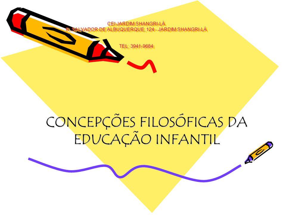 CONCEPÇÕES FILOSÓFICAS DA EDUCAÇÃO INFANTIL