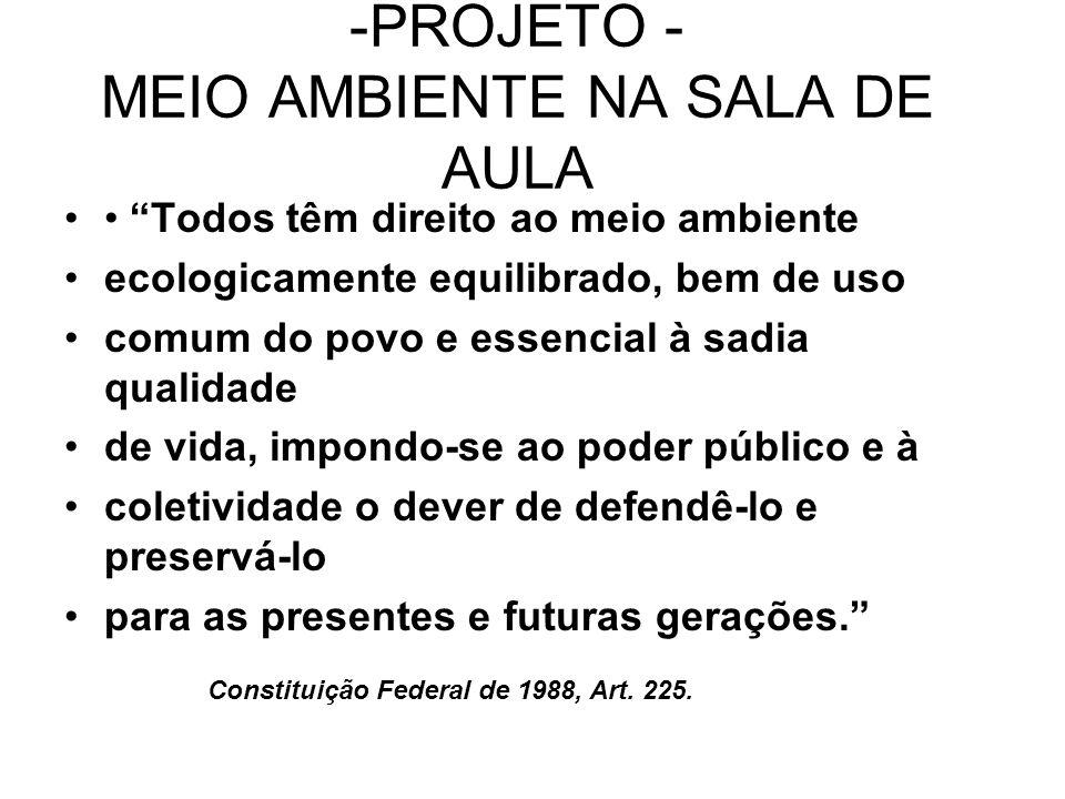 -PROJETO - MEIO AMBIENTE NA SALA DE AULA
