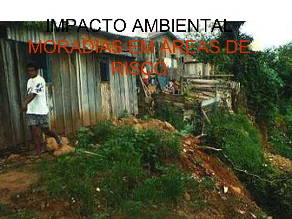 IMPACTO AMBIENTAL MORADIAS EM ÁREAS DE RISCO