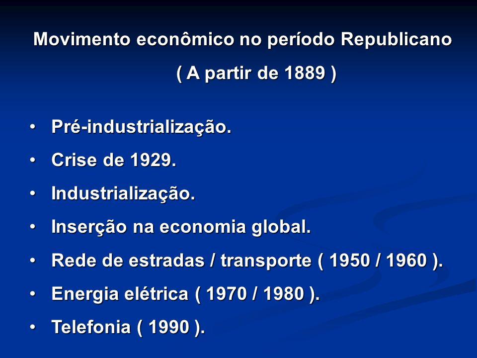 Movimento econômico no período Republicano