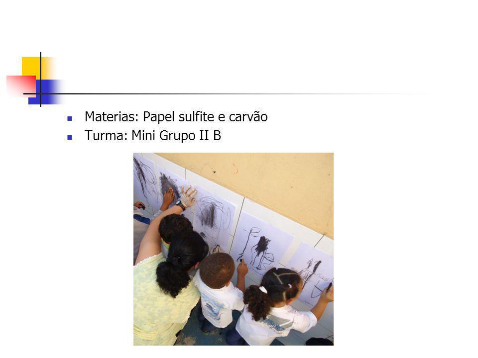 Materias: Papel sulfite e carvão