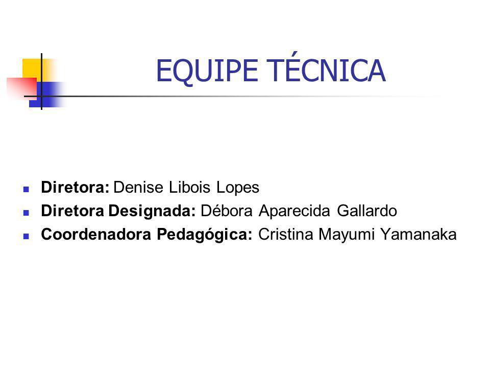 EQUIPE TÉCNICA Diretora: Denise Libois Lopes