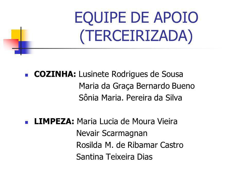 EQUIPE DE APOIO (TERCEIRIZADA)