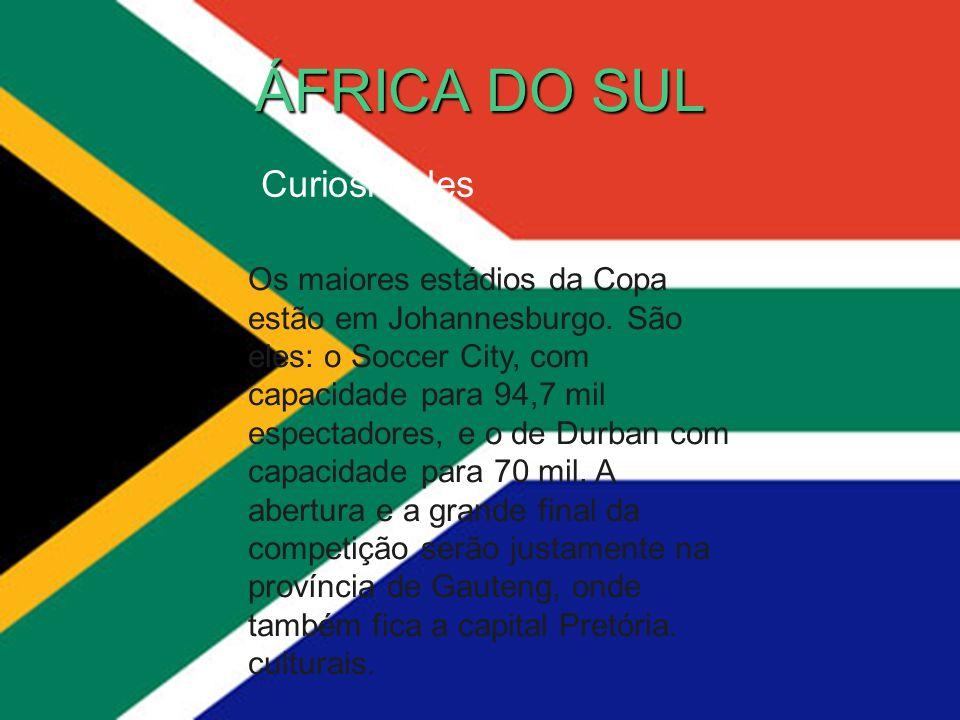 ÁFRICA DO SUL Curiosidades