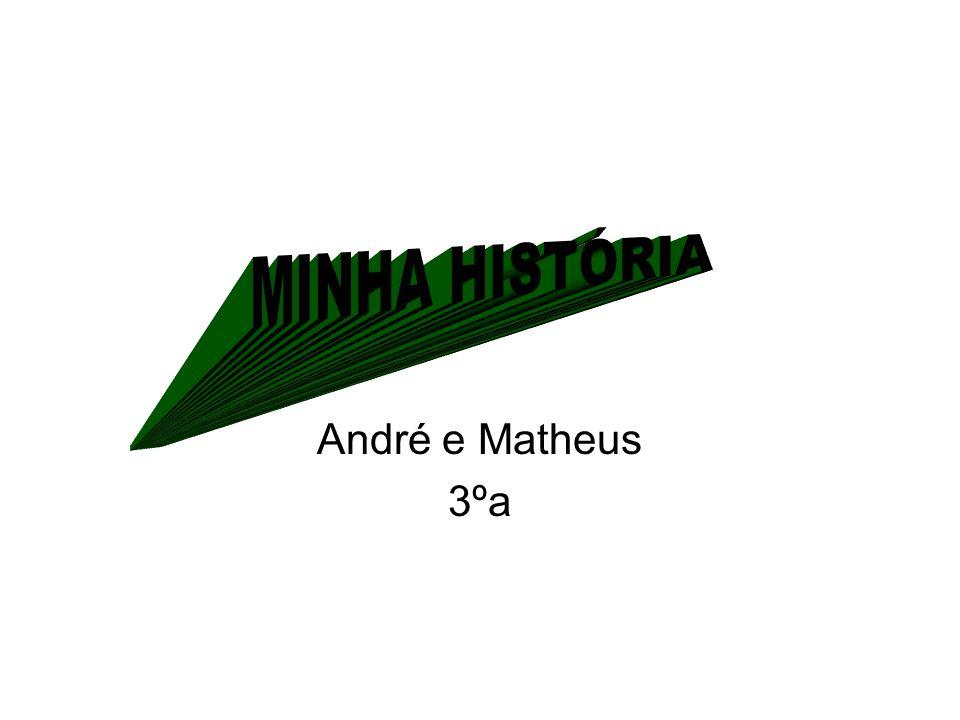 MINHA HISTÓRIA André e Matheus 3ºa