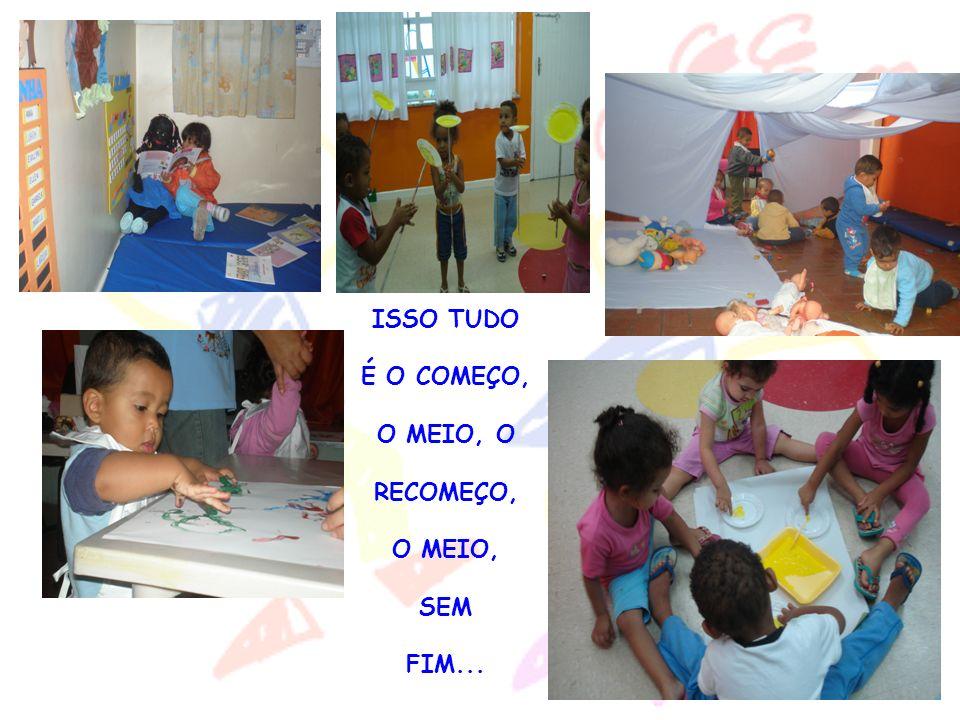 ISSO TUDO É O COMEÇO, O MEIO, O RECOMEÇO, O MEIO, SEM FIM...