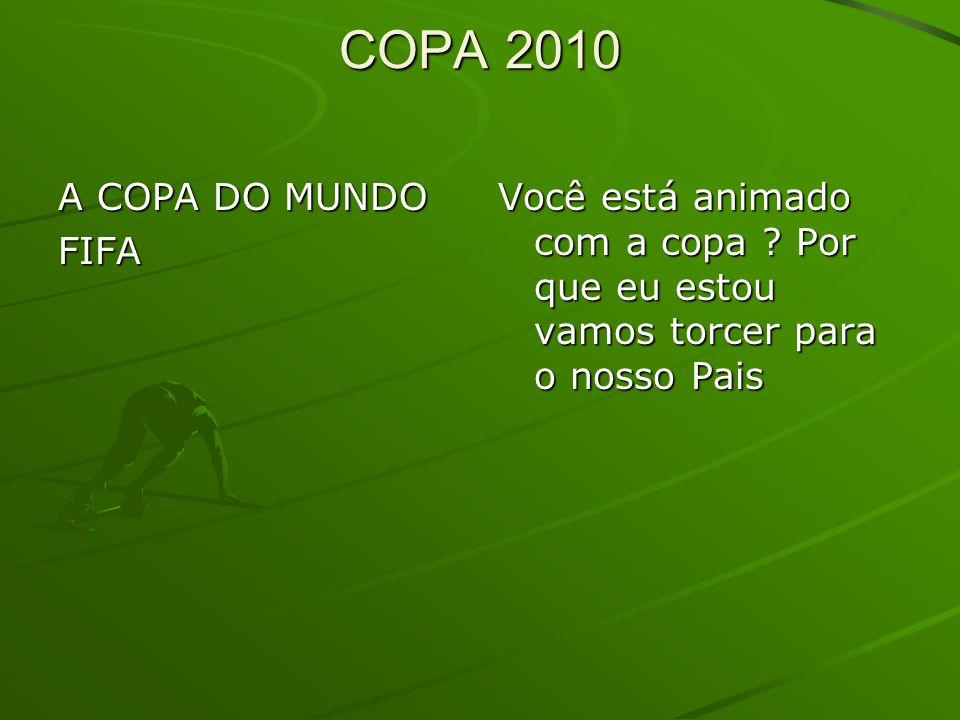 COPA 2010 A COPA DO MUNDO FIFA