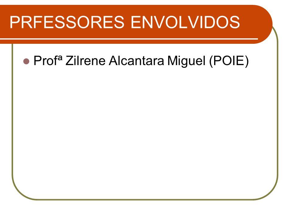 PRFESSORES ENVOLVIDOS