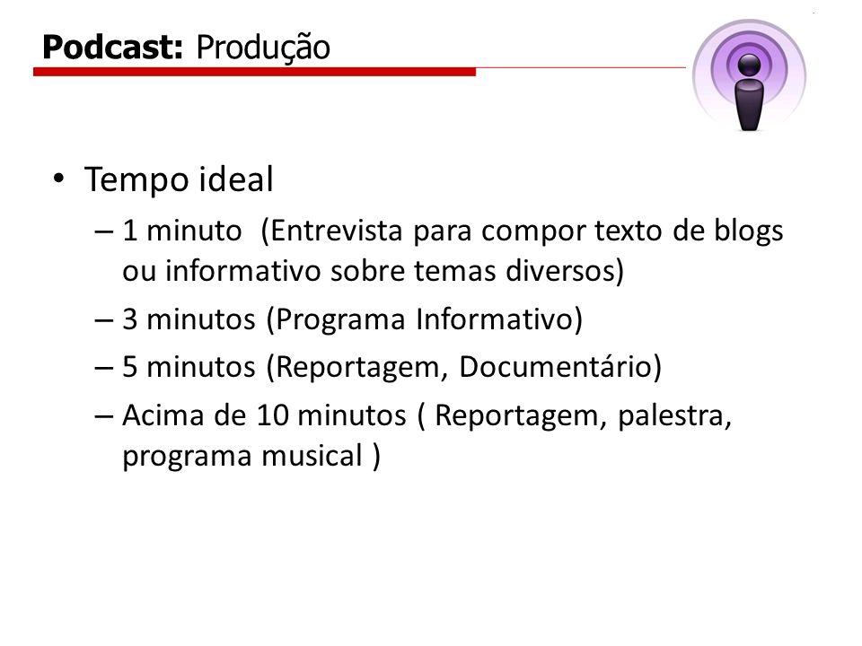 Tempo ideal Podcast: Produção