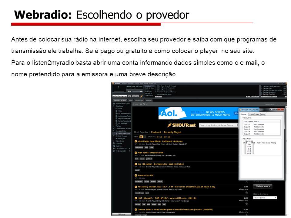 Webradio: Escolhendo o provedor