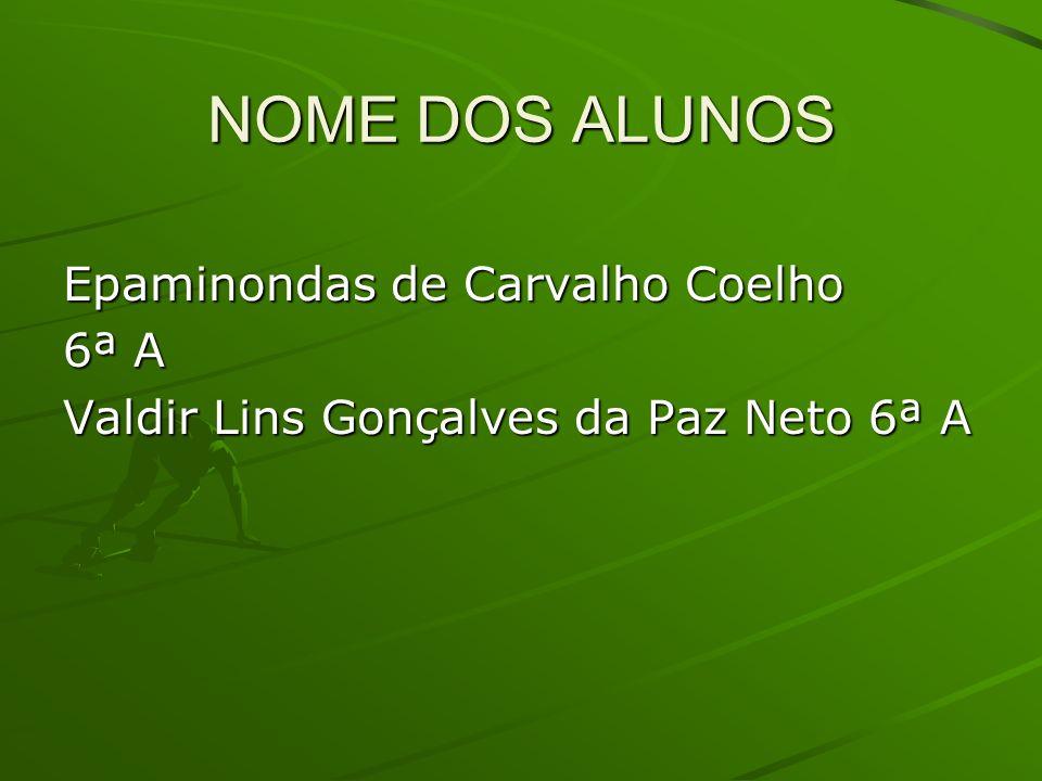 NOME DOS ALUNOS Epaminondas de Carvalho Coelho 6ª A