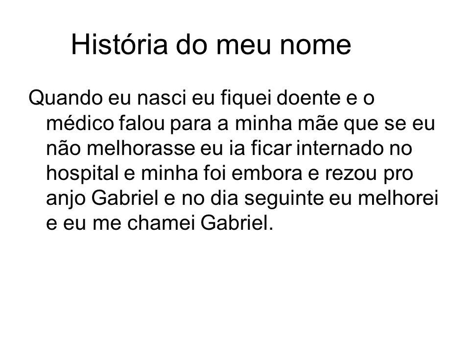 História do meu nome