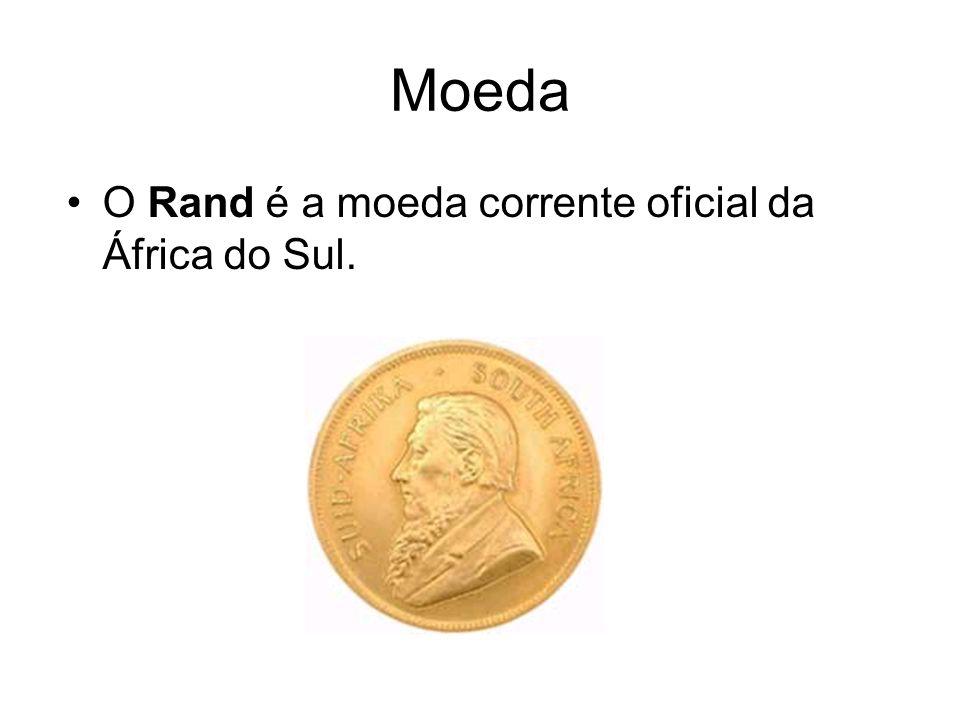 Moeda O Rand é a moeda corrente oficial da África do Sul.