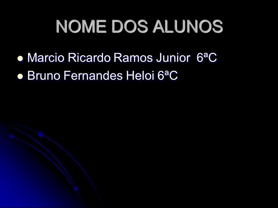 NOME DOS ALUNOS Marcio Ricardo Ramos Junior 6ªC