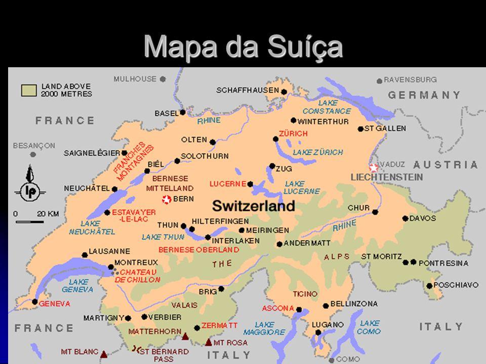 Mapa da Suíça