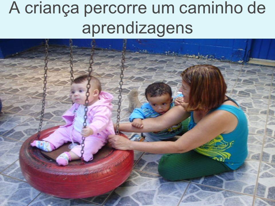 A criança percorre um caminho de aprendizagens